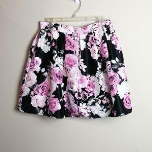 Emerald Sundae Floral A-Linre Mini Skirt Size 13